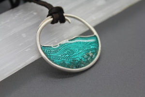 *SPECIAL INTRODUCTORY PRICING* Silver Wave Cremation Necklace - Ashley Lozano Jewelry