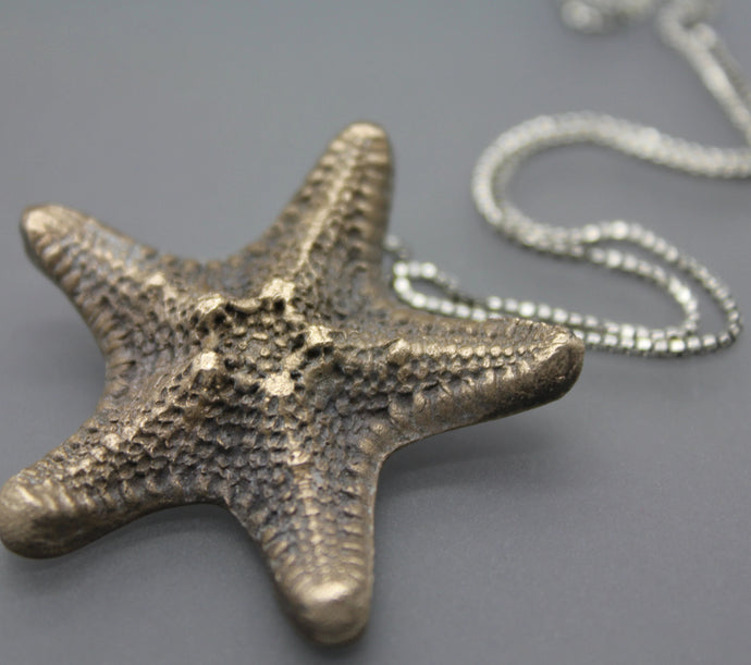 Bronze Star Fish Pendant Necklace - Ashley Lozano Jewelry