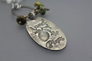 Silver Land of the Pines Pendant Necklace - Ashley Lozano Jewelry