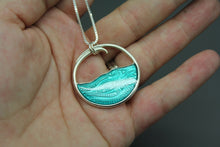 Silver and Blue Ocean Necklace - Ashley Lozano Jewelry