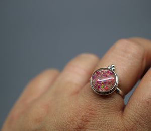 Silver Cremains Ring for her