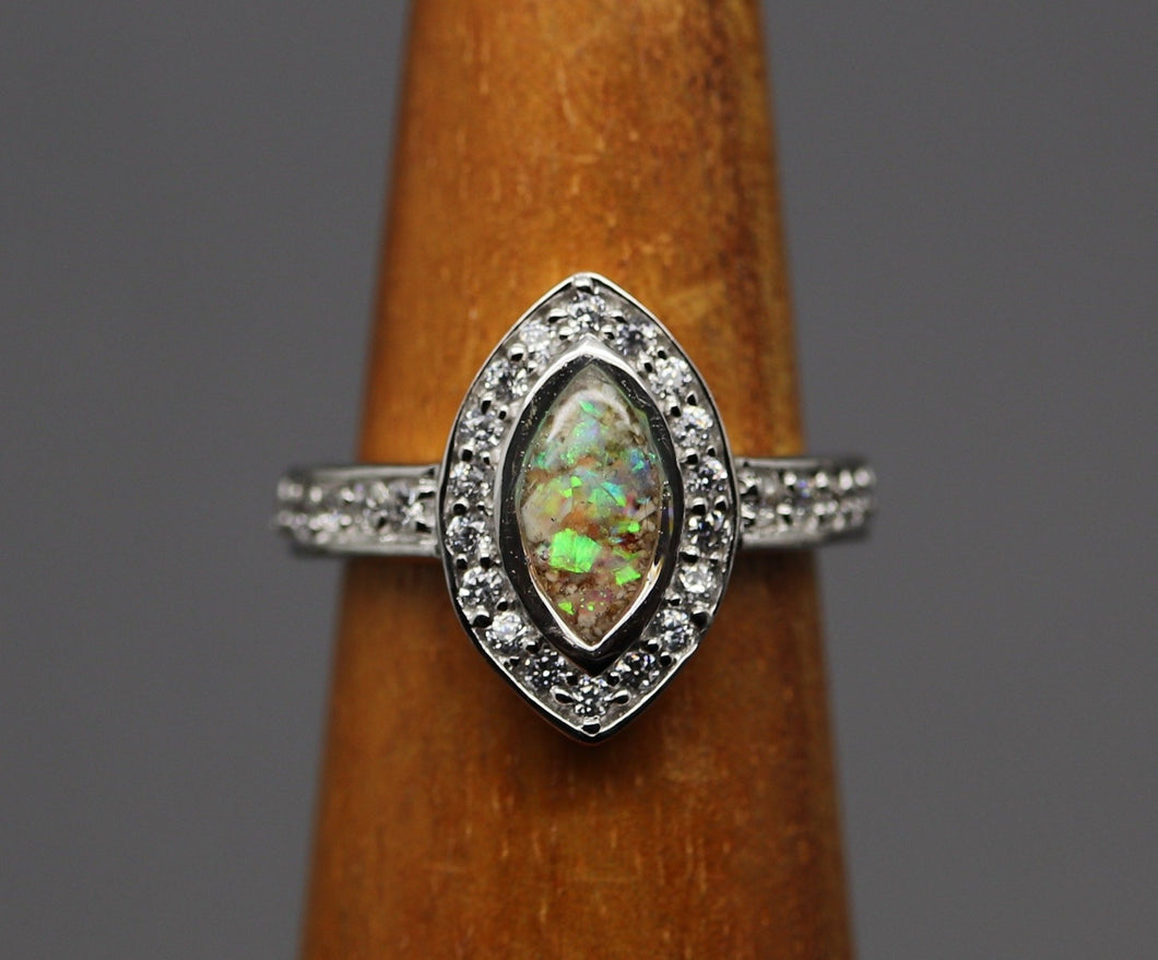 marquise shaped cremation ashes ring