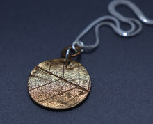 Double Sided Mixed Metal Leaf Imprint Necklace, Ready to Ship - Ashley Lozano Jewelry