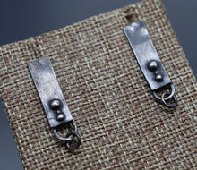 Antiqued Bar Earrings - Ashley Lozano Jewelry