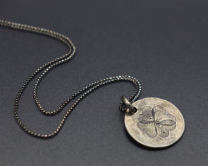 Sterling Four Leaf Clover Necklace ready to ship