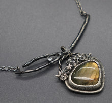 3-in-1 Golden Labradorite and Natural Sapphire Necklace, Ready to Ship - Ashley Lozano Jewelry