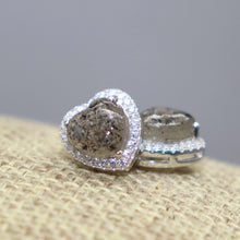 Cremation Ash Heart Earrings with Cubic Zirconia - Ashley Lozano Jewelry