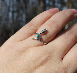 Wrap Around Flower Cremation Ring - Ashley Lozano Jewelry
