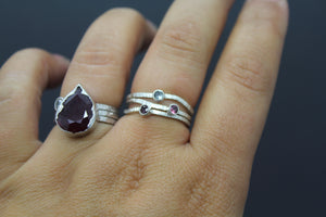 Custom Silver Family Birthstone Ring For Mom - Ashley Lozano Jewelry