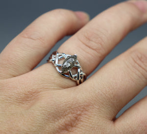 Sterling Silver Marquise Cremation Ring - Ashley Lozano Jewelry