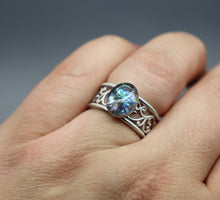 Scrolled Vines Cremation Ash Ring - Ashley Lozano Jewelry