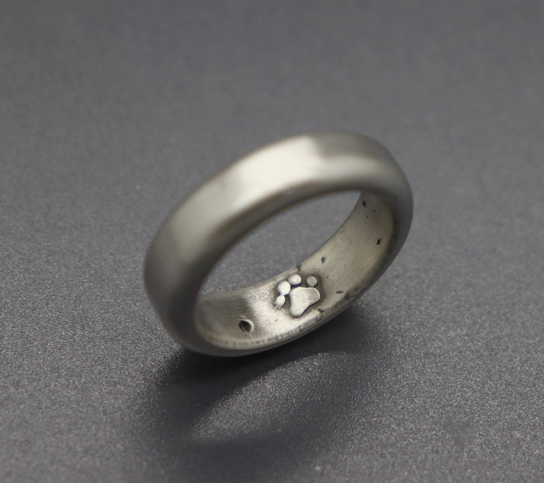 Paw Print Cremation Ring - Ashley Lozano Jewelry