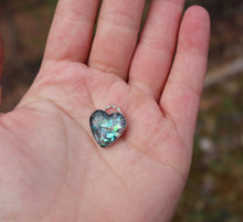 Dichroic Cremation Ash Heart Pendant - Ashley Lozano Jewelry
