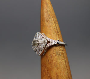 Vintage Inspired Silver Cremation Ash Ring - Ashley Lozano Jewelry