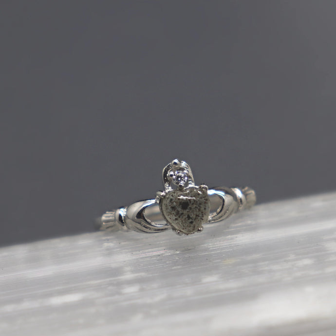Claddagh Cremation Ash Ring - Ashley Lozano Jewelry