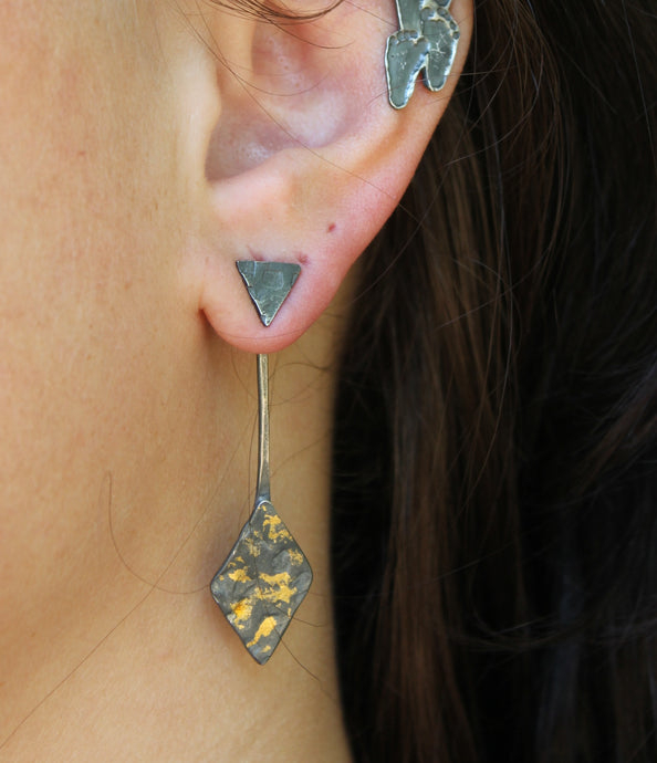 Handmade Silver and Gold Ear Jackets - Ashley Lozano Jewelry