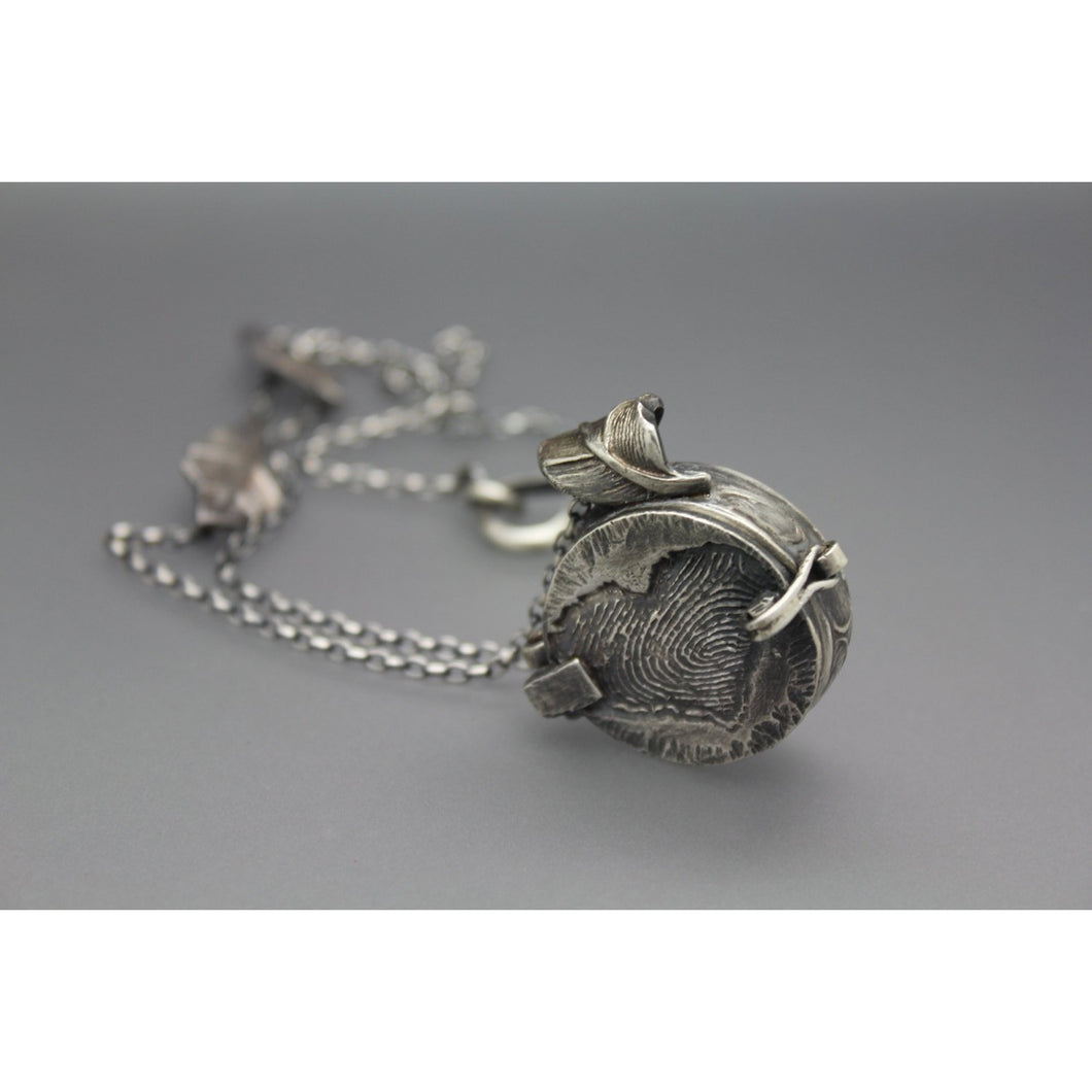Handmade Custom Cremation Locket Necklace In Silver - Ashley Lozano Jewelry