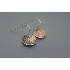 CLEARANCE! Copper Disc Earrings - Ashley Lozano Jewelry