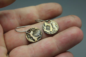 CLEARANCE! Spring Circle Earrings In Bronze On Stainless Steel Ear Wires - Ashley Lozano Jewelry
