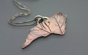 North Carolina State-Shaped Pendant Necklace - Ashley Lozano Jewelry
