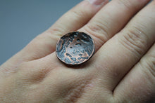 Stamped Moon Ring in Copper - Ashley Lozano Jewelry