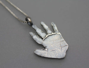 Custom Handprint Necklace - Ashley Lozano Jewelry