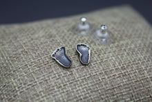 Custom Baby Footprint Earrings - Ashley Lozano Jewelry