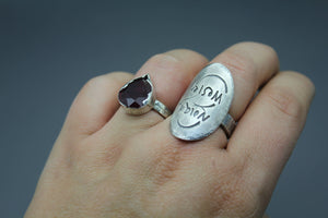 Sterling Silver Handwriting Ring - Ashley Lozano Jewelry