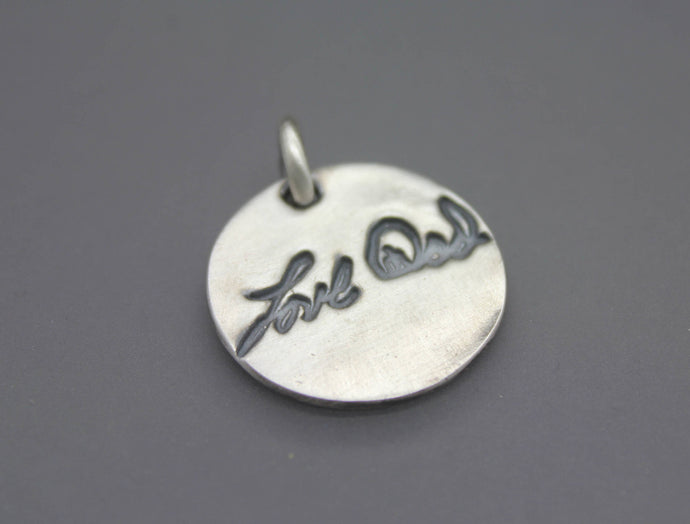 Custom Silver Handwriting/Signature Pendant - Ashley Lozano Jewelry