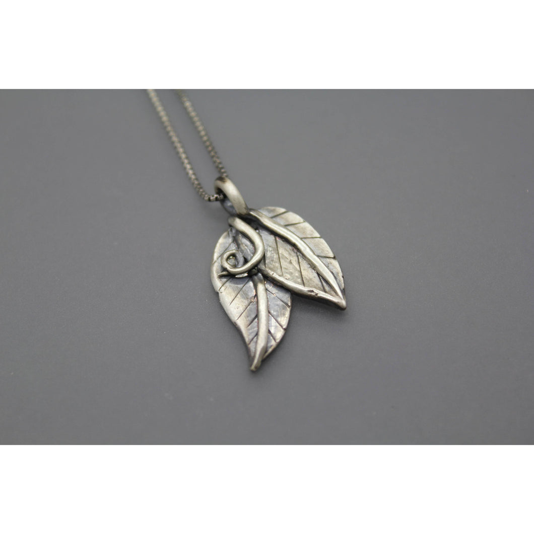 Two Leaves Cremation Jewelry - Ashley Lozano Jewelry
