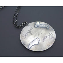 Long Distance Best Friend Necklace In Silver For Moving Gift - Ashley Lozano Jewelry