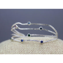 Custom Family Birthstone Bracelet Handmade In Sterling Silver - Ashley Lozano Jewelry
