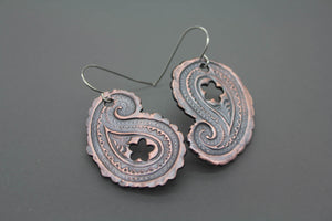Paisley Earrings in Copper - Ashley Lozano Jewelry