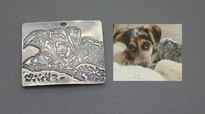 Sterling Silver Photo Pendant - Ashley Lozano Jewelry