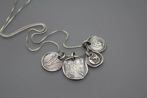 Sterling Awareness Ribbon Wax Seal Necklace - Ashley Lozano Jewelry