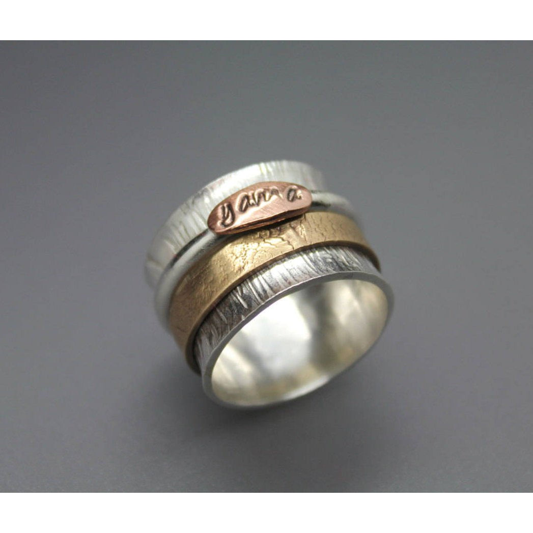 Paw Print Spinner Ring - Ashley Lozano Jewelry