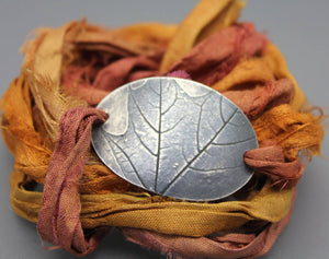 Silver Leaf Wrap Bracelet - Ashley Lozano Jewelry