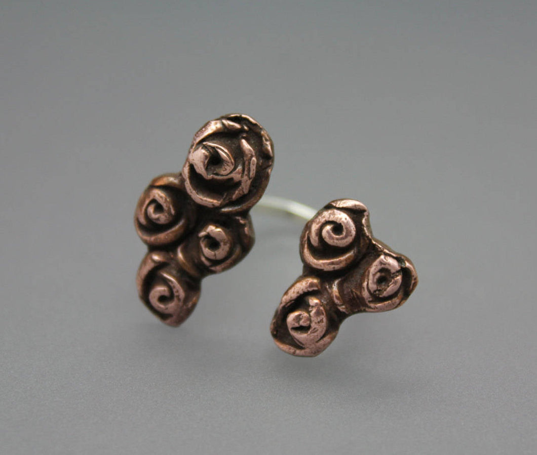 Copper Two Finger Rose Ring - Ashley Lozano Jewelry