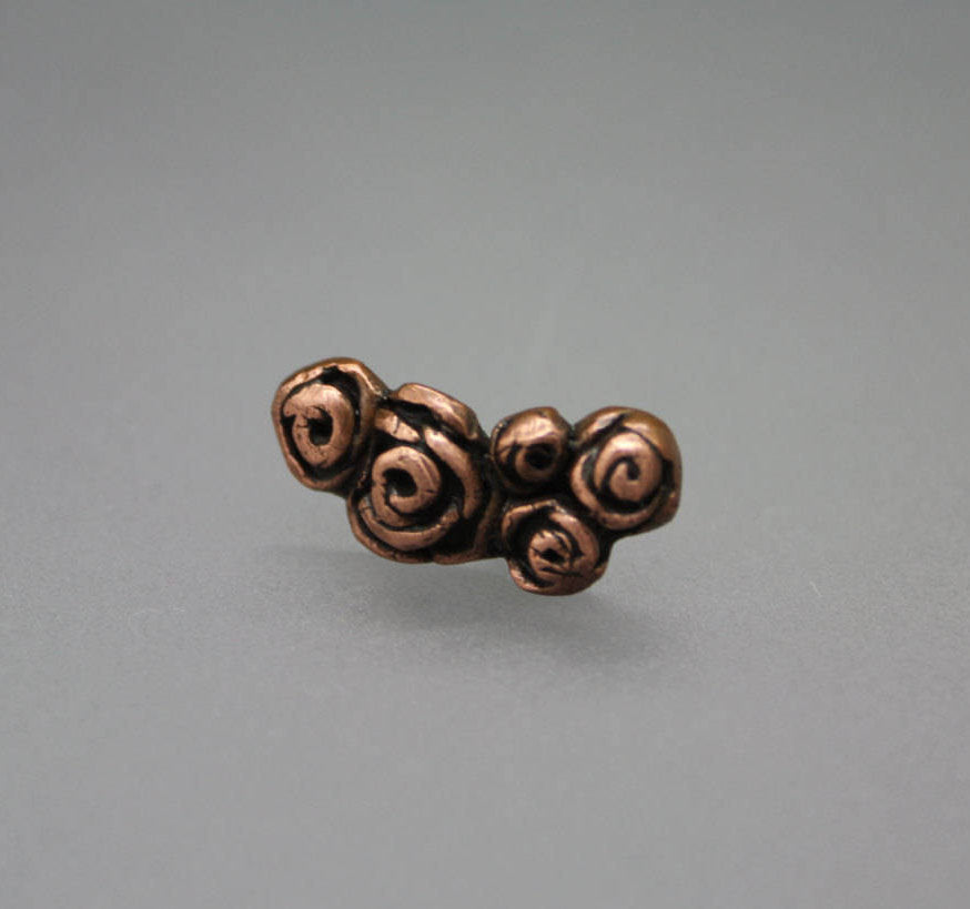 Copper Rose Ear Climber - Ashley Lozano Jewelry