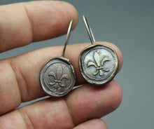 Fleur De Lis Wax Stamp Earrings - Ashley Lozano Jewelry