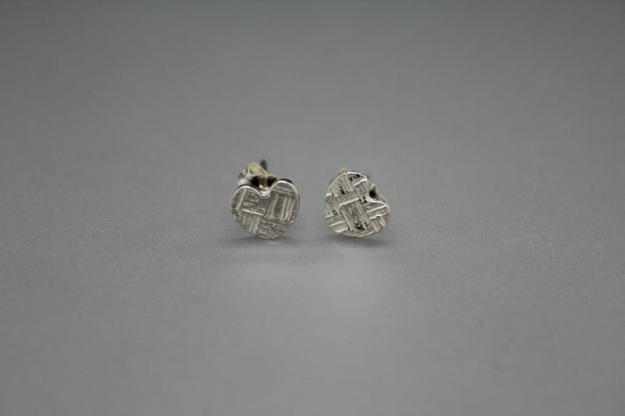 Small Stud Heart Earrings - Ashley Lozano Jewelry