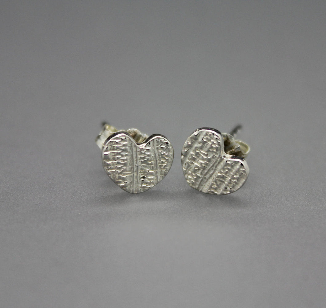 Heart Stud Earrings - Ashley Lozano Jewelry