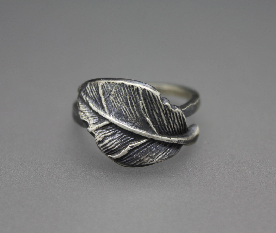 Silver Leaf Ring - Ashley Lozano Jewelry