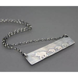 Elephant Mom Necklace - Ashley Lozano Jewelry