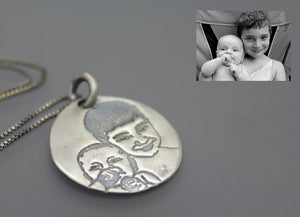 Silver Photo Necklace - Ashley Lozano Jewelry