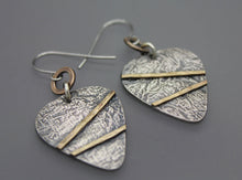 Silver And Brass, Mixed Metal Earrings - Ashley Lozano Jewelry