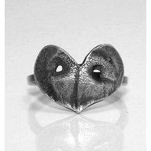 Silver Paw Print Heart Ring - Ashley Lozano Jewelry