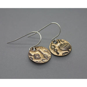 Spring Circle Earrings In Bronze On Stainless Steel Ear Wires - Ashley Lozano Jewelry