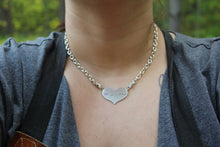 Silver And Gold Heartbeat Pulsebar Necklace With Your Baby's EKG - Ashley Lozano Jewelry