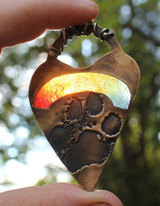 Rainbow Baby Footprint Pendant - Ashley Lozano Jewelry